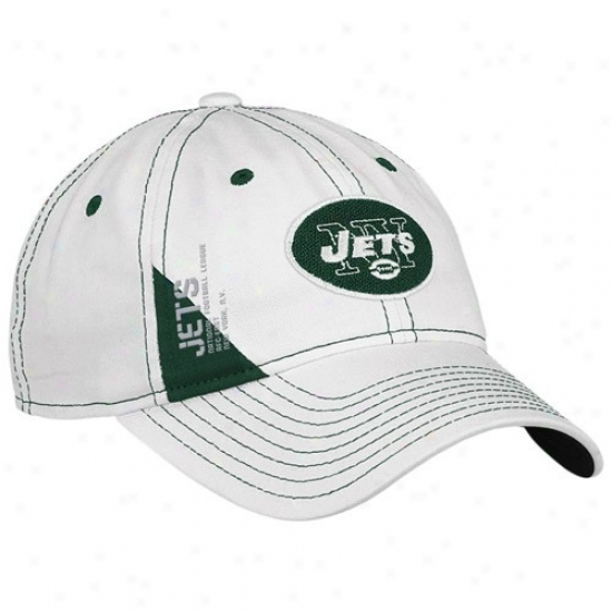 N Y Jet Hat : Reebok N  YJet Ladies Happy Official 2010 Draft Day Adjustable Hat