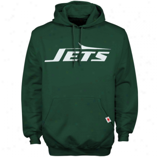 N Y Jet Stuff: N Y Jet Green Classic Heavyweight Hoody Sweatshirt
