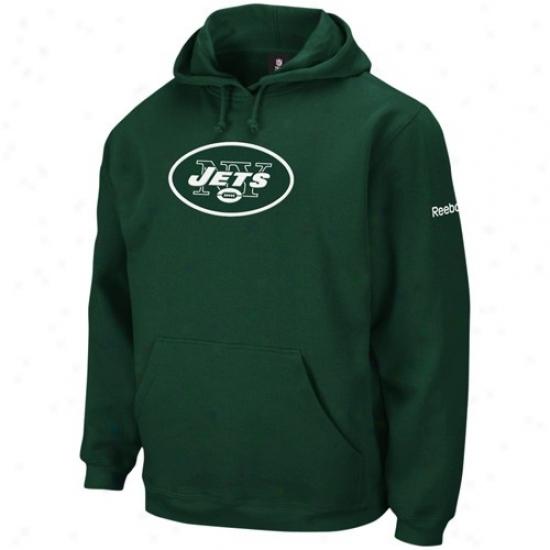 N Y Jet Sweat Shirt : Reebok N Y Jet Green Playbook Sweat Shirt