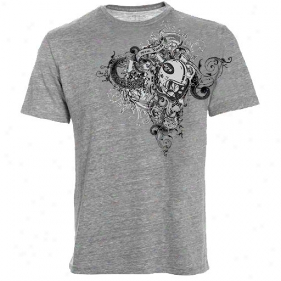N Y Jet T-shirt : Reebok N Y Jet Dark Gray Cross My Heart Premium T-shirrt