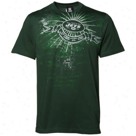 N Y Jets Attire: N Y Jets Green Team Shine Ii T-shirt