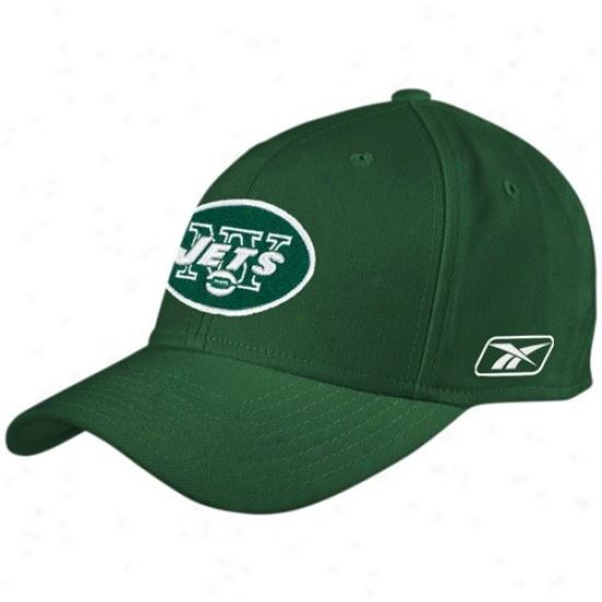 N Y Jets Hats : Reebok N Y Jets Green Coaches Flex Hats
