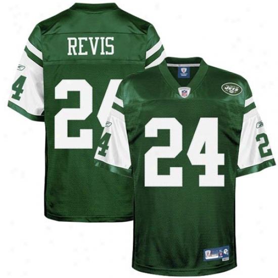N Y Jets Jerseys : Reebok Darrelle Revis N Y Jets Premier Tackle Twill Jerseys - Green
