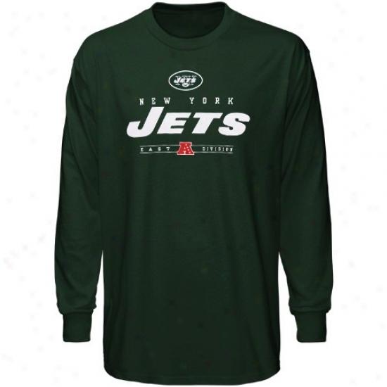 N Y Jets Tshirt : N Y Jets Green Critical Victory Iv Long Sleeve Tshirt