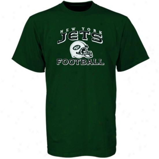 N Y Jets Thsirt : Reebok N Y Jets Youth Green Stacked Helmet Tshirt