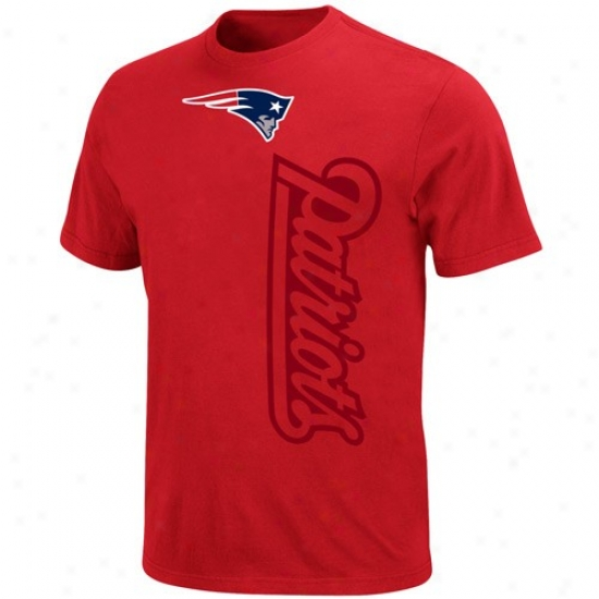 New England Patriot Attire: New England Patriot Red All-time Grrat T-shirt