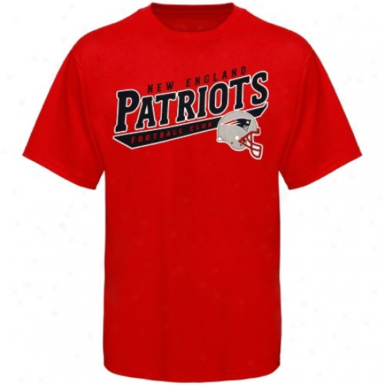 New England Patriot Attire: Reebok New England Patriot Red The Call Is Tails T-shirt