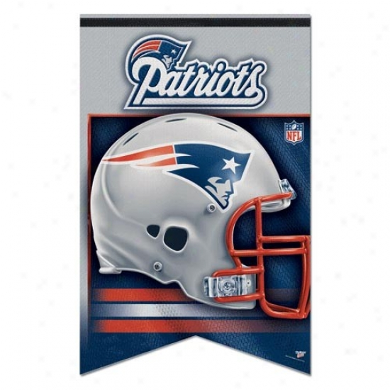 New England Patriot Flags : New England Patriot 17'' X 26'' Premium Quality Felt Flags