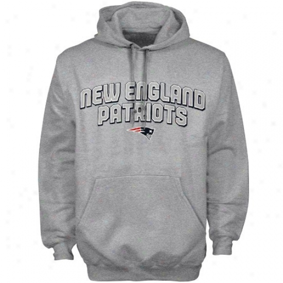 New England Patriot Hooeie : Reebok New England Patriot Ash Double Arch Hoodie