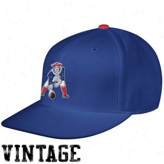 Novel England Patriot Medchandise: Mitchell & Ness Boston Patriots Royal Blue Vintage Logo Fitted Hat