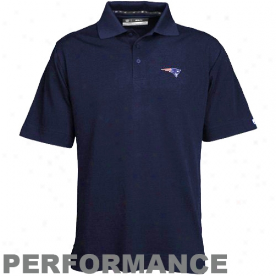 New England Patriot Polo : Cutter & Buck New England Patriot Navy Blue Drytec Championship Polo
