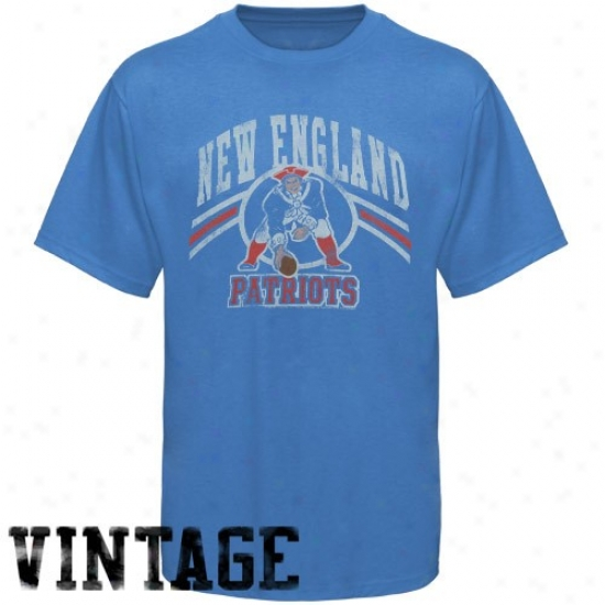 New England Patriot Syirt : Junk Food New England Patriot Light Blue Vintage Annual rate  Shirt