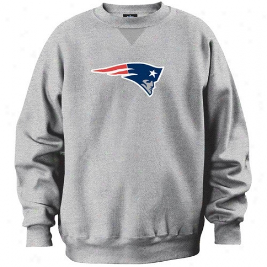 Just discovered England Patriot Sweat Shirt : New England Patriot Ash Classic Crew Sweat Shirt