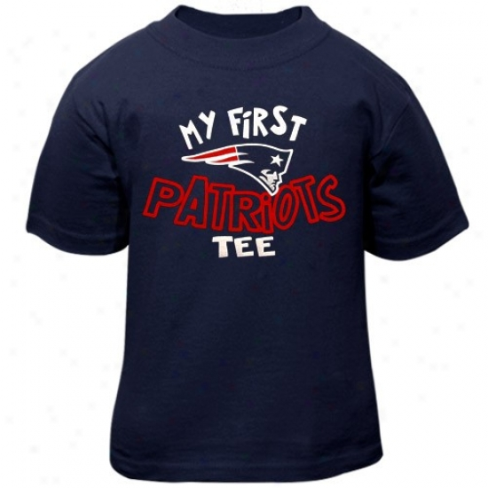 New England Patriot T Shirt : Reebok New England Patriot Infant Navy Blue My First Patriots T Shirt T T Shirts