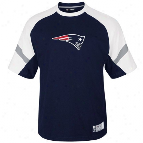 Neq England Patriot Tees : New England Patriot Navy Blue Game Stunner Premium Tees