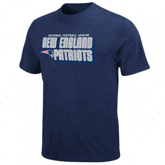 New England Patriot Tshirts : Nww England Patriot Navy Blue Defensive Front Heathered Tshirts