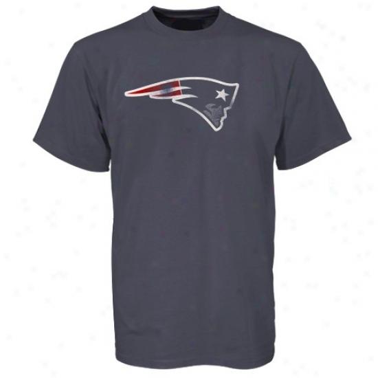 New England Patript Tshirts : New England Patriot Navy Blue Pigment Tshirts