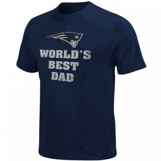 New England Patriot Tsuirts : Repaired England Patriot Navy Blue World's Best Dad Tshirts