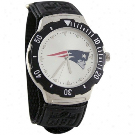 Repaired England Patriot Watch : New England Patriot Black Agent V Watch