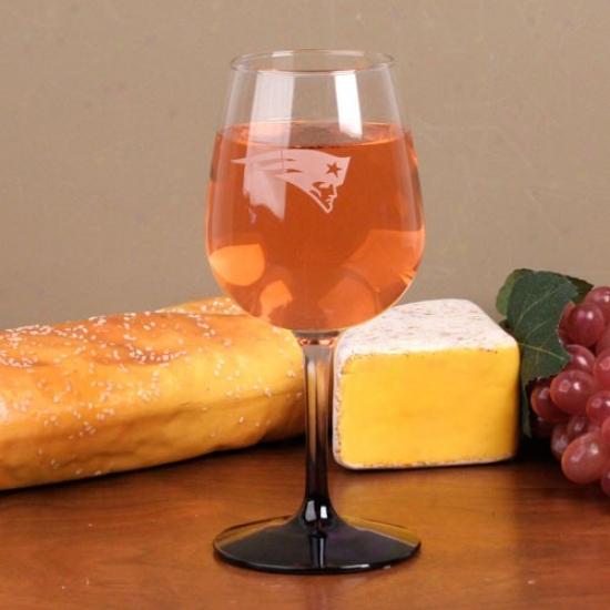 New England Patriots 12 Oz. Wine Glass