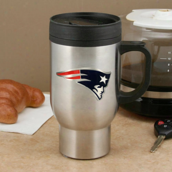 New England Patriots 16 zO  Stainless Steel Travel Mug