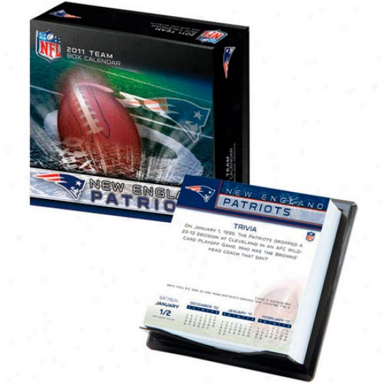 New England Patriots 2011 Boxed Team Calendar