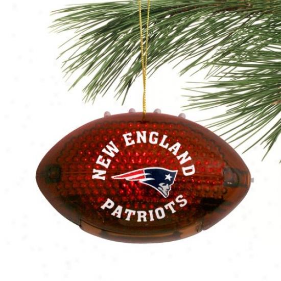 New England Patriots 4'' Acrylic Light-up Football Ornament
