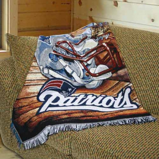 """new England Patriots 48""""x60"""" Internal Field Advantaye Blanket Throw"""