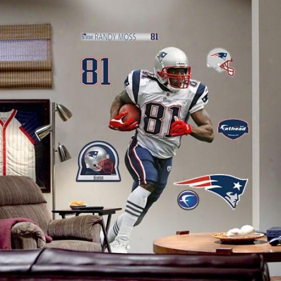 New England Patriots #81 Randy Moss Player Fathead