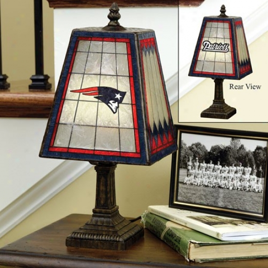 New England Patriots Art-glass Table Lamp