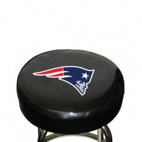New England Patriots Black Tean Logo Bar Stool Cover