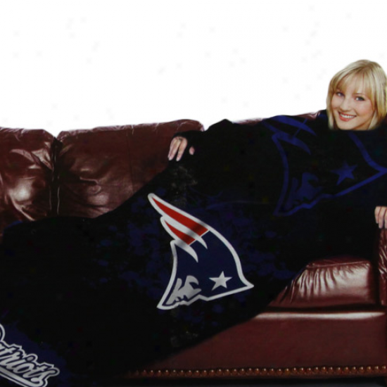 New England Patriots Black Twam Logo Impression Unisex Comfy Throw