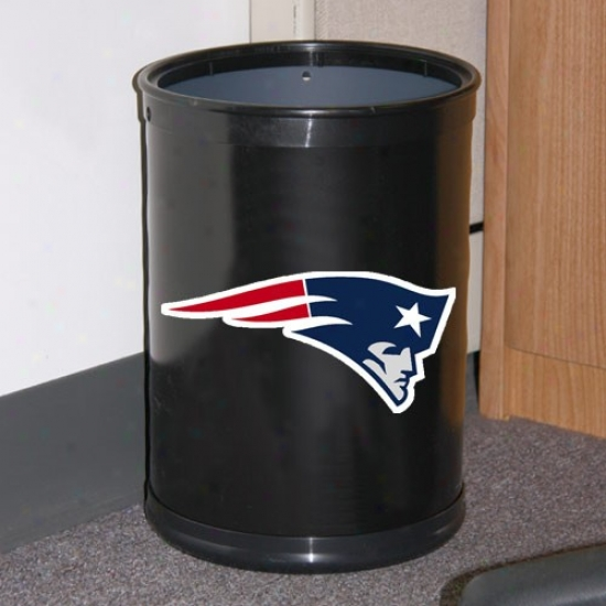 New England Patriots Black Team Wastebasket
