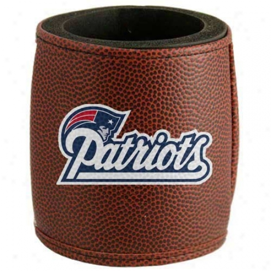 New England Patriots Brown Football Can Coolie