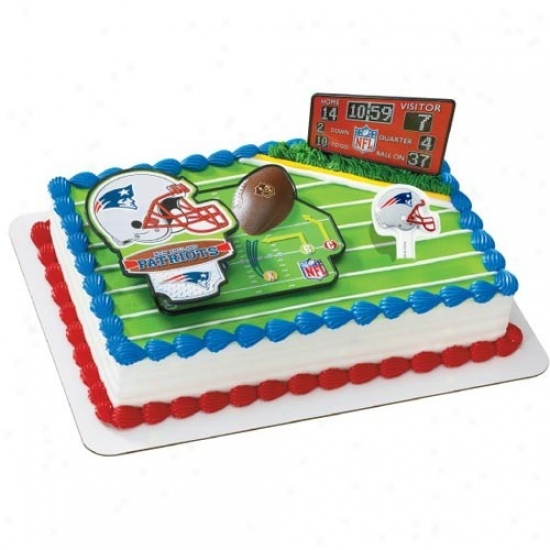 New England Patriots Cake Decorating Kit
