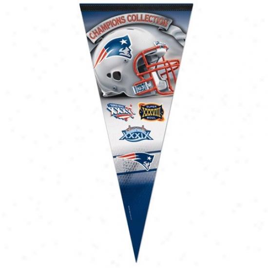 New England Patriots Champions Collection 17'' X 40'' Vertical Premium Felt Pennant