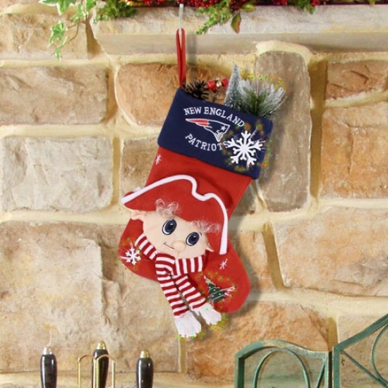 New England Patriots Fiber Optic Mascot Stocking