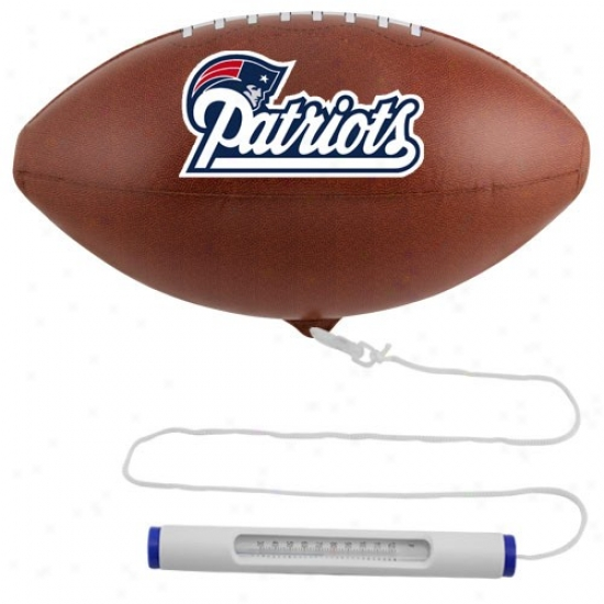 New England Patriots Floating Football Pool Thermometer