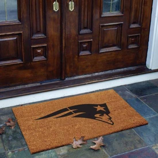 New England Patriots Flocked Coir Door Mat