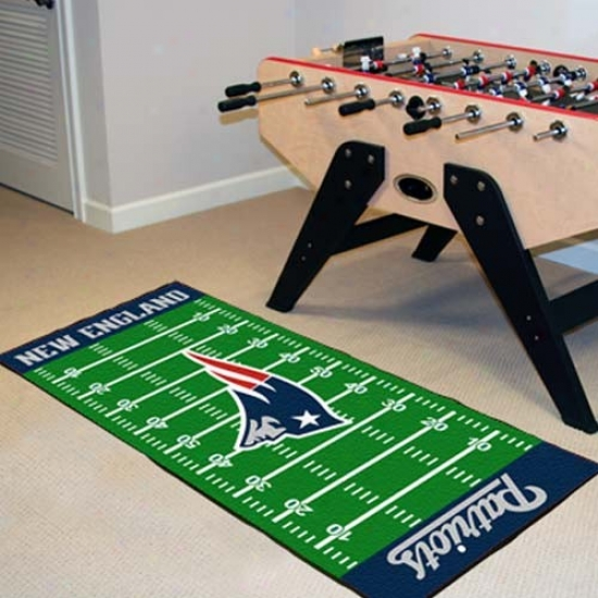 New England Patriots Football Field Runner Mat