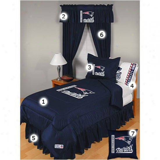 New England Patriots Full Size Locker Room Bedroom Set