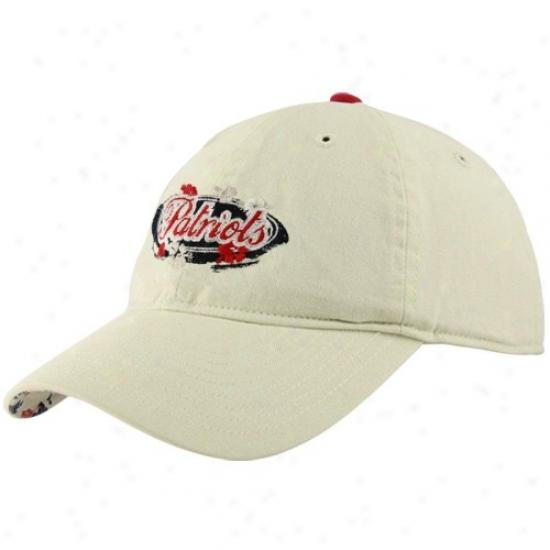 New England Patriots Gear: Reebok New England Patriots Ladies Tan Coastal Adjustable Hat