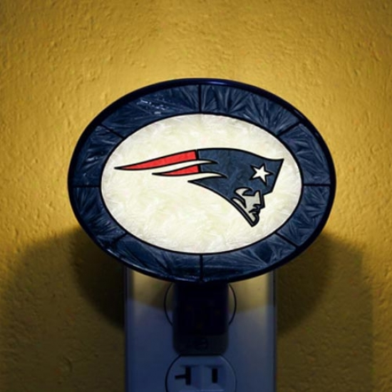 New England Patriots Hand-painted Glass Nightlight