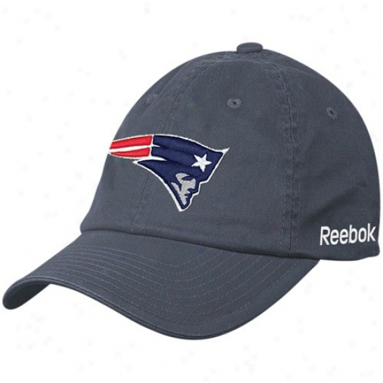 New England Patriots Hats : Reebok New England Patriots Navy Blue Sideline Flex Hats
