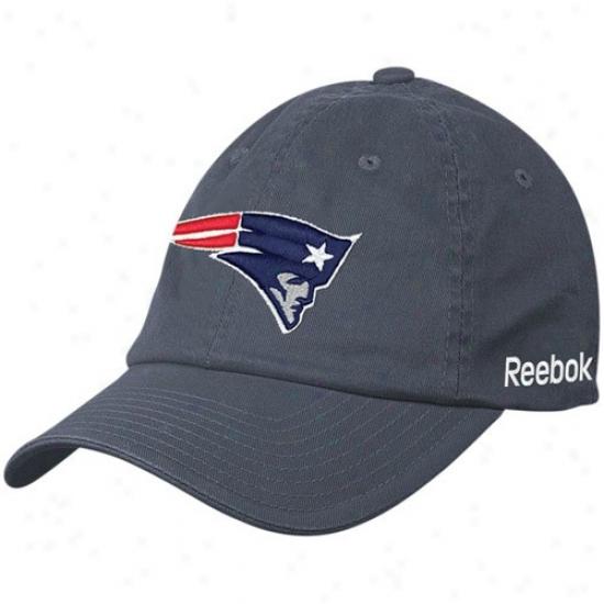 New England Patriots Hats : Reebok New England Patriots Navy Blue Sideline Flex Hats