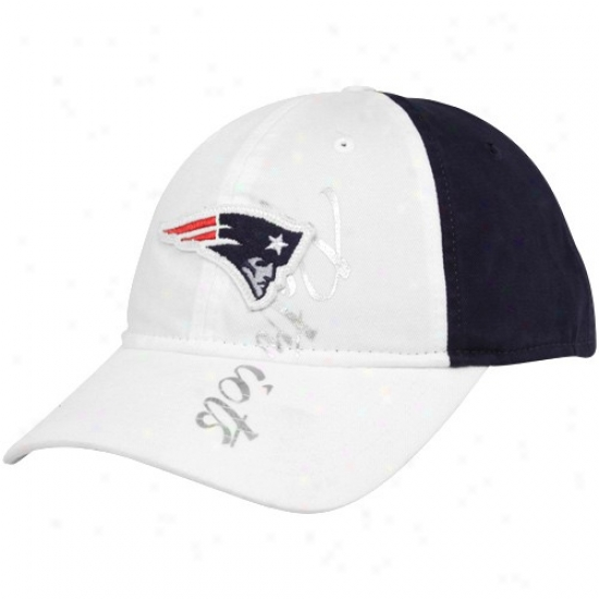 Unaccustomed England Patriots Hats : Reebok New England Patriots Ladies White-navy Blue Slouch Adjustable Hats
