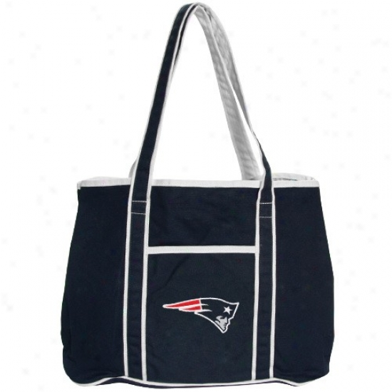 New England Patriots Ladies Navy Blue Hampton Canvas Tote Bag