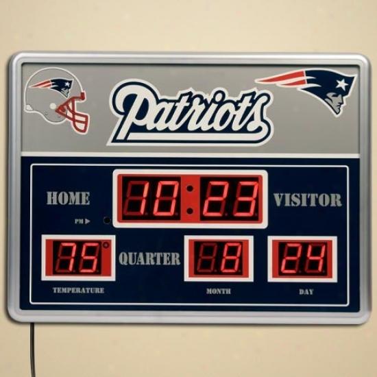 Nsw England Patriots Led Scoreboard Clock