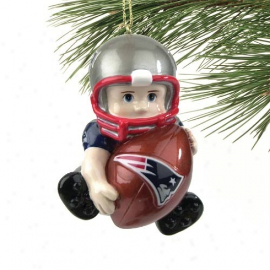 New England Patriots Lil' Fan Football Player Acrylic Ornament