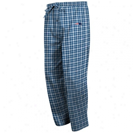 New England Patriots NavyB lue Fly Patfern Pajama Pants